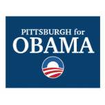PITTSBURGH for Obama custom your city personalized Postcard