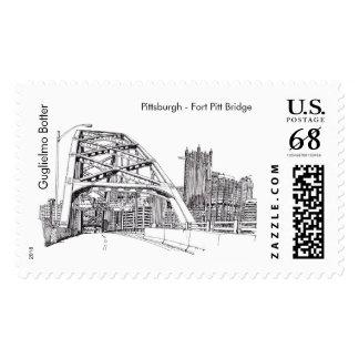 "Pittsburgh, ""Fort Pitt Bridge"" Postage"