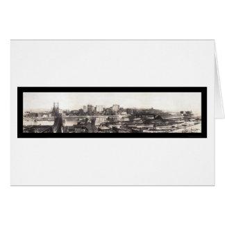 Pittsburgh, foto 1907 del horizonte del PA Tarjeta De Felicitación