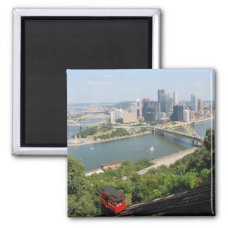 Pittsburgh from Mt Washington 2 Inch Square Magnet
