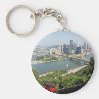 Pittsburgh from Mt Washington Basic Round Button Keychain