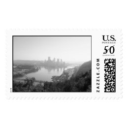 Pittsburgh from the West End Overlook stamp