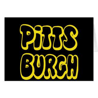 Pittsburgh Gear Greeting Card