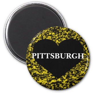 Pittsburgh Heart 2 Inch Round Magnet