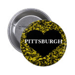 Pittsburgh Heart Pinback Buttons