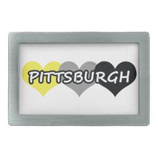 Pittsburgh Hebilla Cinturon Rectangular