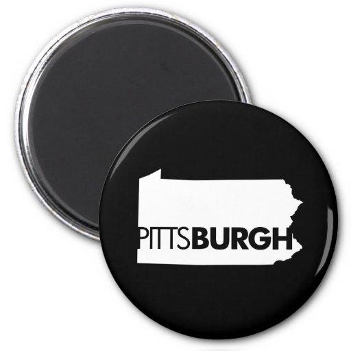 Pittsburgh Imán Redondo 5 Cm
