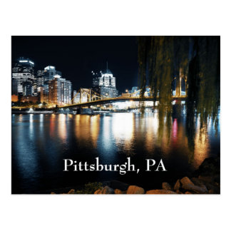 Pittsburgh in color postcard