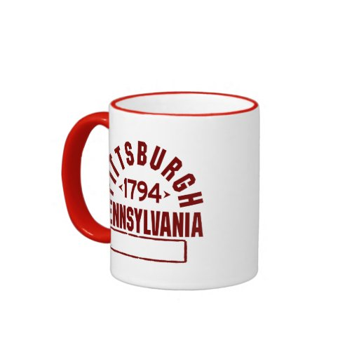 Pittsburgh inc. taza a dos colores