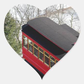 Pittsburgh Incline Plane Heart Sticker