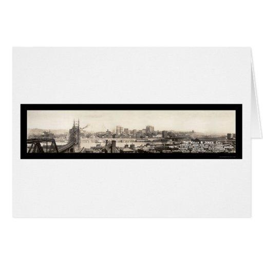 Pittsburgh Iron & Pipe Photo 1906 Greeting Card