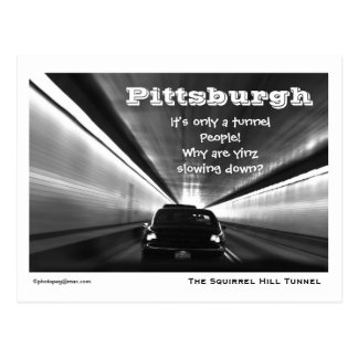 """Pittsburgh """"it's Only a Tunnel"""" Postcard"""
