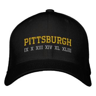 Pittsburgh IX X XIII XIV XL XLIII Embroidered Hat