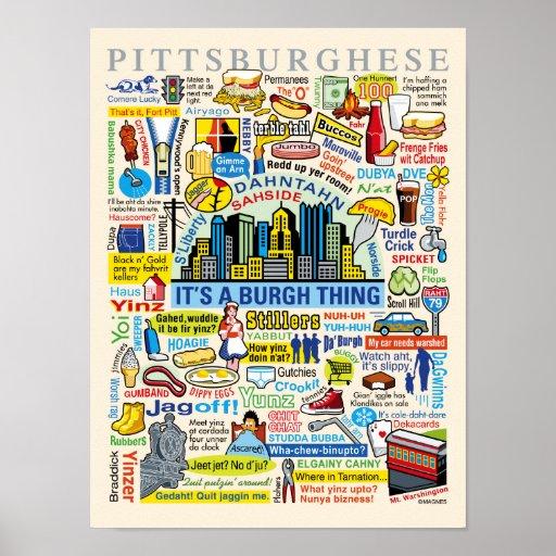Pittsburgh Language Fun Pittsburghese Artwork Print
