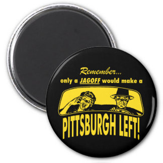 Pittsburgh Left 2 Inch Round Magnet