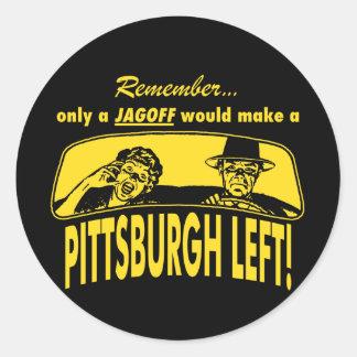Pittsburgh Left Classic Round Sticker