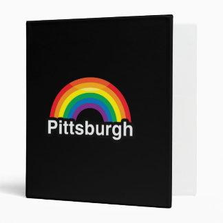 PITTSBURGH LGBT PRIDE RAINBOW 3 RING BINDER