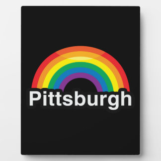 PITTSBURGH LGBT PRIDE RAINBOW PLAQUE