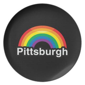 PITTSBURGH LGBT PRIDE RAINBOW PLATES