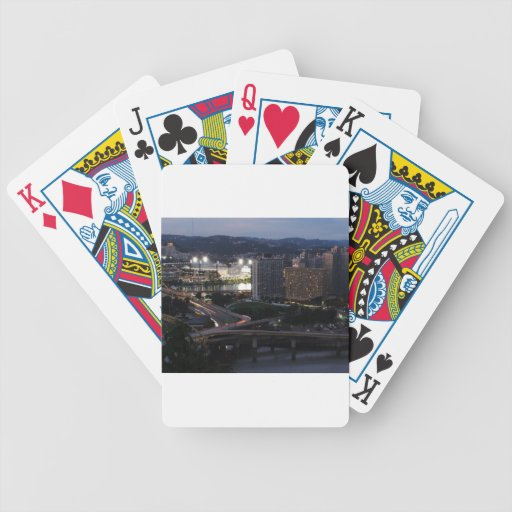 Pittsburgh Light Trails Bicycle Poker Deck