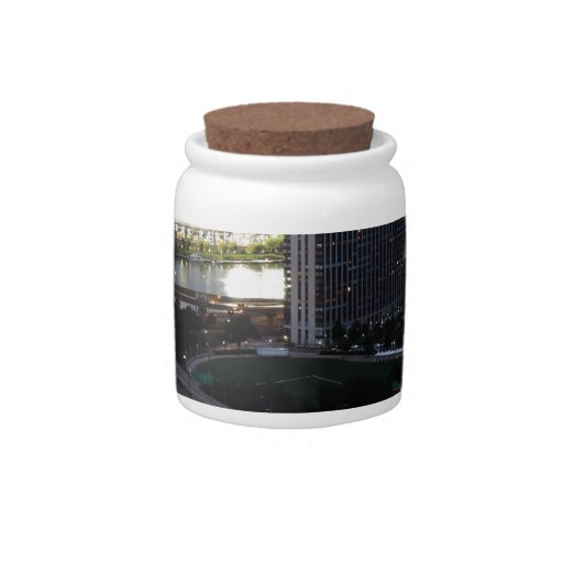 Pittsburgh Light Trails Candy Jar
