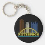 Pittsburgh Llavero Redondo Tipo Pin