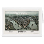Pittsburgh, mapa panorámico del PA - 1902 Felicitacion