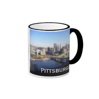 pittsburgh ringer coffee mug