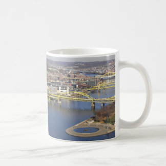 pittsburgh classic white coffee mug