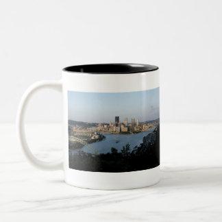 Pittsburgh Night and Day Photo Mug