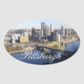 Pittsburgh Oval Sticker