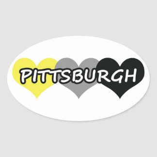 Pittsburgh Oval Stickers