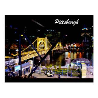 -Pittsburgh,PA-Bridge-Photo-Postcard Postcard