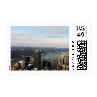 Pittsburgh pa city view stamps