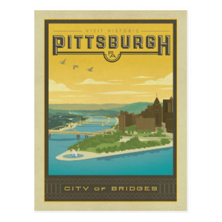 Pittsburgh, PA - ciudad de puentes Tarjeta Postal