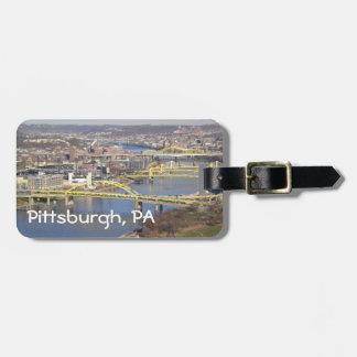 Pittsburgh, PA Etiqueta De Maleta