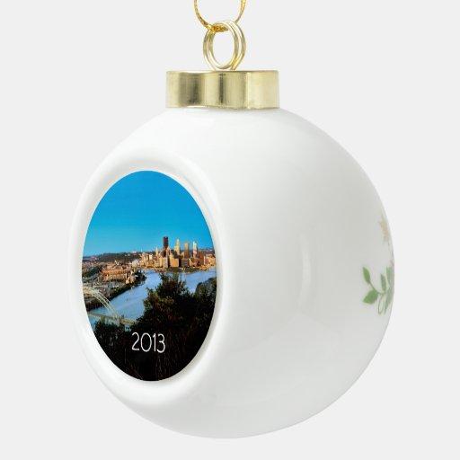 Pittsburgh-PA-Foto-De Cerámica-Navidad-Ornamento Adornos