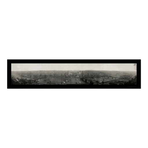 Pittsburgh PA Panorama Photo 1908 Posters