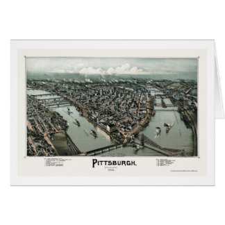 Pittsburgh, PA Panoramic Map - 1902 Card
