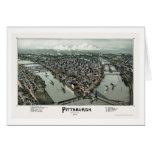 Pittsburgh, PA Panoramic Map - 1902 Greeting Card