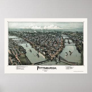 Pittsburgh, PA Panoramic Map - 1902 Poster