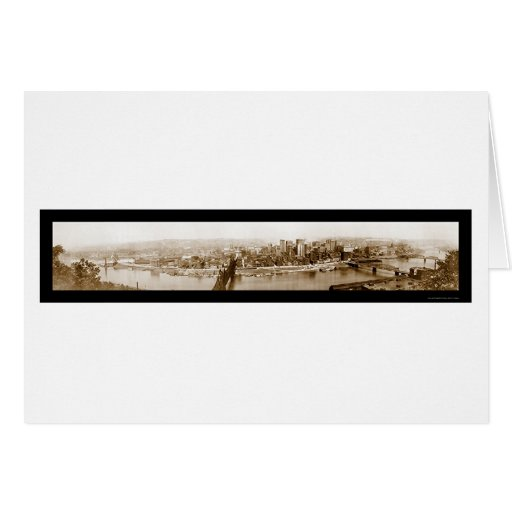 Pittsburgh, PA Photo 1920 Greeting Card