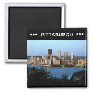 -Pittsburgh, PA-Photo-Magnet 2 Inch Square Magnet