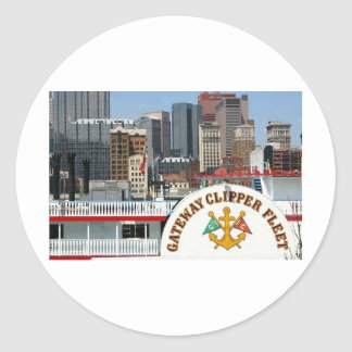 Pittsburgh Pa photography Classic Round Sticker