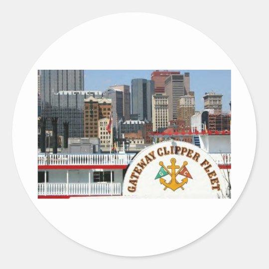 Pittsburgh Pa photography Classic Round Sticker