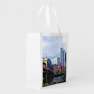 Pittsburgh PA - Pittsburgh Skyline by Smithfield S Reusable Grocery Bag