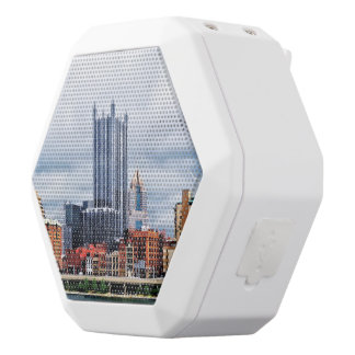Pittsburgh PA Skyline White Boombot Rex Bluetooth Speaker