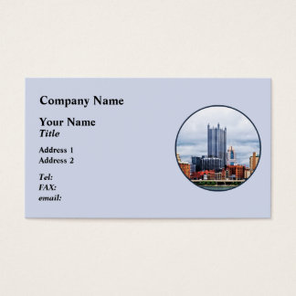 Pittsburgh PA Skyline Business Card