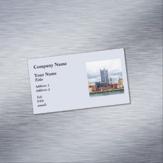 Pittsburgh PA Skyline Business Card Magnet