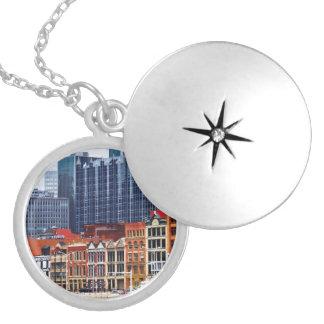 Pittsburgh PA Skyline Closeup Locket Necklace